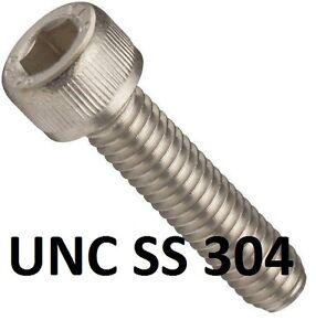 "Qty 5 Socket Head Cap 4-40 UNC x 3/4"" Stainless Steel 304 Screw SS BSW Allen"