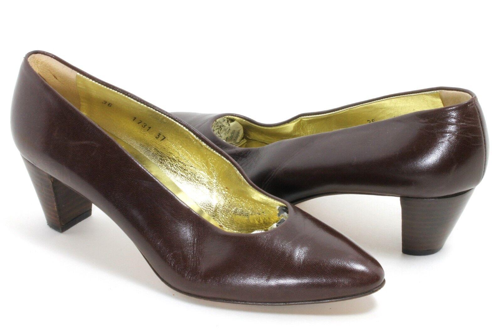 Elegant Elegant Elegant vintage zapatos señora zapatos pumps cuero walter steiger Handmade a mano 37  marcas de diseñadores baratos