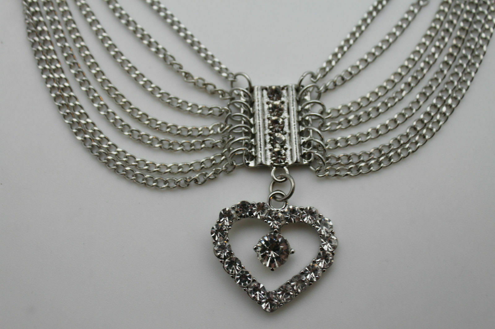 Women Silver Chain Boot Bracelet Love Fashion Bling Heart Charm Friendship gift