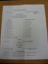 26/07/1980 Reading v West Bromwich Albion [Friendly] (Single Sheet, Folded, Scor