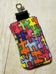 Autism credit card id or business card holder key chain ebay image is loading autism credit card id or business card holder colourmoves