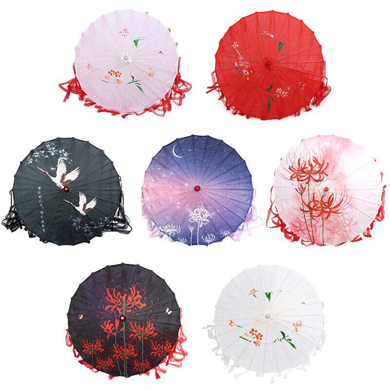 Chinese Cloth Umbrella Costume Photography Props Tasseled Umbrella
