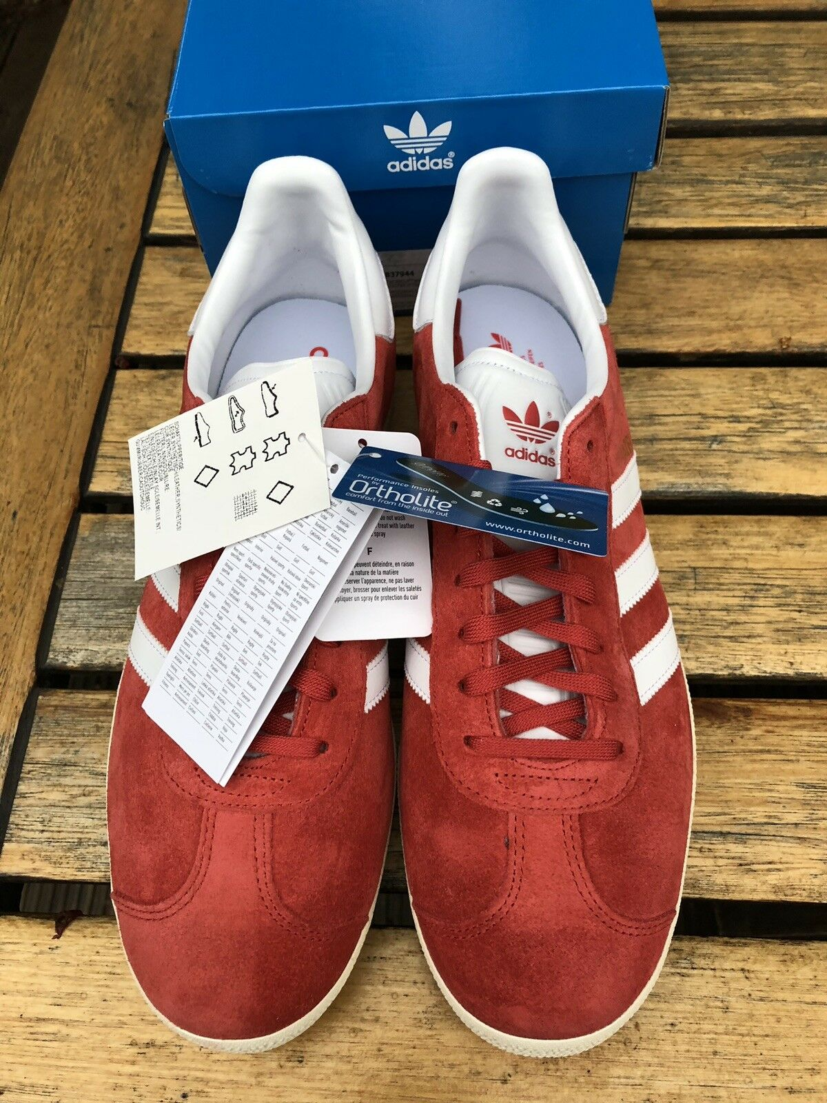 Adidas Originals Gazelle Trainers Pumps Brand Größe 10 Retro Mod Scooter Ska Brand Pumps New 6063a9
