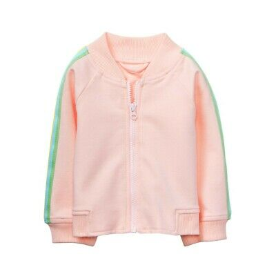 6-12 Mos. 2 Piece Bomber Jacket & Pleated Skirt Color Pastel Pink Ture 100% Guarantee