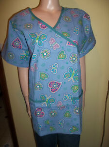 817e22bad51 Image is loading RMF-SCRUBS-HEART-AND-BUTTERFLY-SCRUB-TOP-VALENTINES-