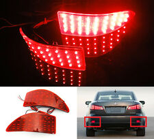 Red Lens Bumper Reflector LED For 06-13 Lexus Tail Stop Brake Light IS250 IS350
