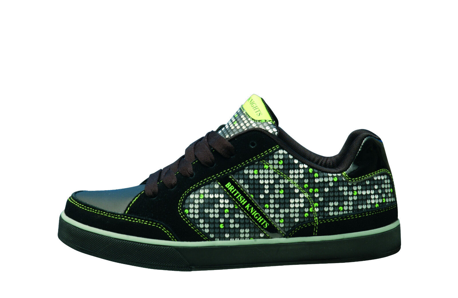 BK British Knights Halbschuhe Sneaker Black Green