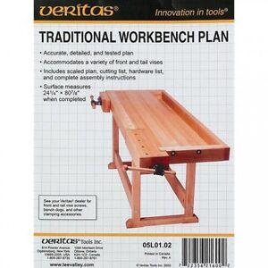 Veritas Traditional Workbench Plan Ap476770 Ebay