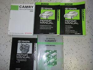 2002-Toyota-Camry-Servicio-Tienda-Reparacion-Manual-de-Fabrica-Concesionario-OEM