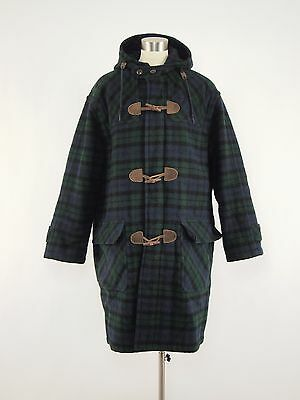1980s L.L. BEAN Vintage Wool Blanket Thinsulate Duffle Toggle Coat Mens XL TALL