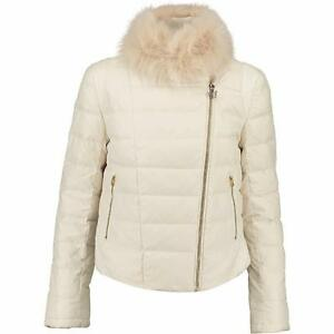 White Xs Rrp215gbp Uk6 Feather Sixty Cream Coat Miss Down Padded Jacket BSEZq88A