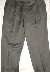 Paul Fredrick Mens Wool Stripe Pleated Suit Pants