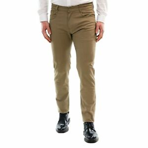 Pantalone-Uomo-Cotone-Estivo-Sabbia-Chino-Slim-Casual-Elegante-Cargo-5-Tasche