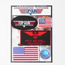 "TOP GUN ""MAVERICK"" FANCY DRESS Iron-On Patch Super Set #127 - FREE POSTAGE!"
