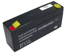 Blei-Gel Multipower Akku MP3.3-6 AGM 6V 3,3Ah 3,2Ah DiaMec DM6-3.2 Accu Batterie