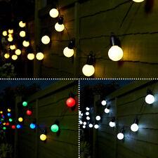 4.75m Plug In LED Party Globe Festoon String Lights | Outdoor Garden Decoration
