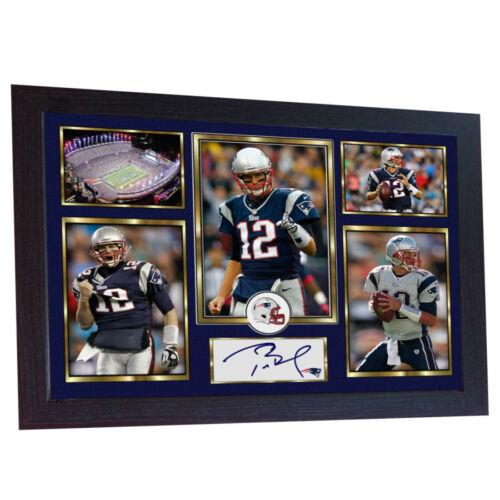 Tom Brady New England Patriots NFL signed autograph TOM BRADY Framed