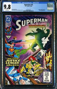 SUPERMAN-74-D-C-COMICS-12-1992-JUSTICE-LEAGUE-DOOMSDAY-APP-CGC-9-8-NM-MT