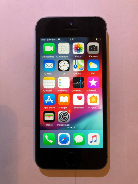 iPhone 5S, 16 GB, sort, Perfekt, Telefonen virker perfekt…