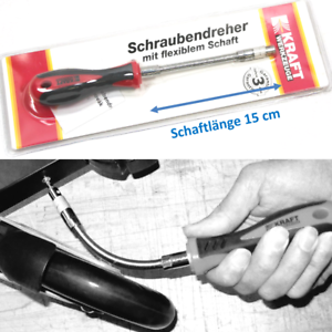 BUDGET 27 cm Schraubendreher biegbar flexibel Bitaufnahme Bithalter ~yx966 2012
