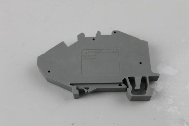 grau NEU 16mm Belegung: L 1 x Durchgangsklemme Wago 785-601 Zugfeder