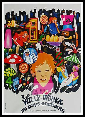 WILLY WONKA AND THE CHOCOLATE FACTORY MOVIE POSTER FILM ART A4 A3 PRINT CINEMA