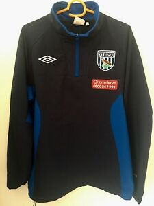 WEST-BROM-FOOTBALL-SOCCER-TRAINING-ZIPPER-JACKET-ADULT-M-WEST-BROMWICH-ALBION