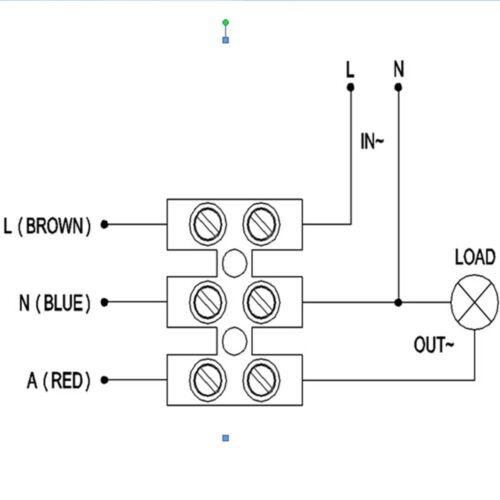 Stand Alone PIR Occupancy Motion Sensor Detector Light Switch 1000W IP44 White