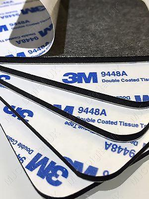 3 M 9448 A 61 Mm x 78 mm 3 mm grueso tejido recubierto negro doble almohadilla Cinta Adhesiva Reino Unido