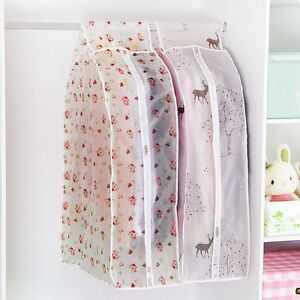 Clear-Clothes-Cover-Hanging-Garment-Suit-Coat-Plastic-Bags-Protector-Carrier-Zip
