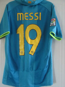 0ea3affd9c9 Barcelona Messi 19 2007-2008 Away Football Shirt Size Small  39037 ...
