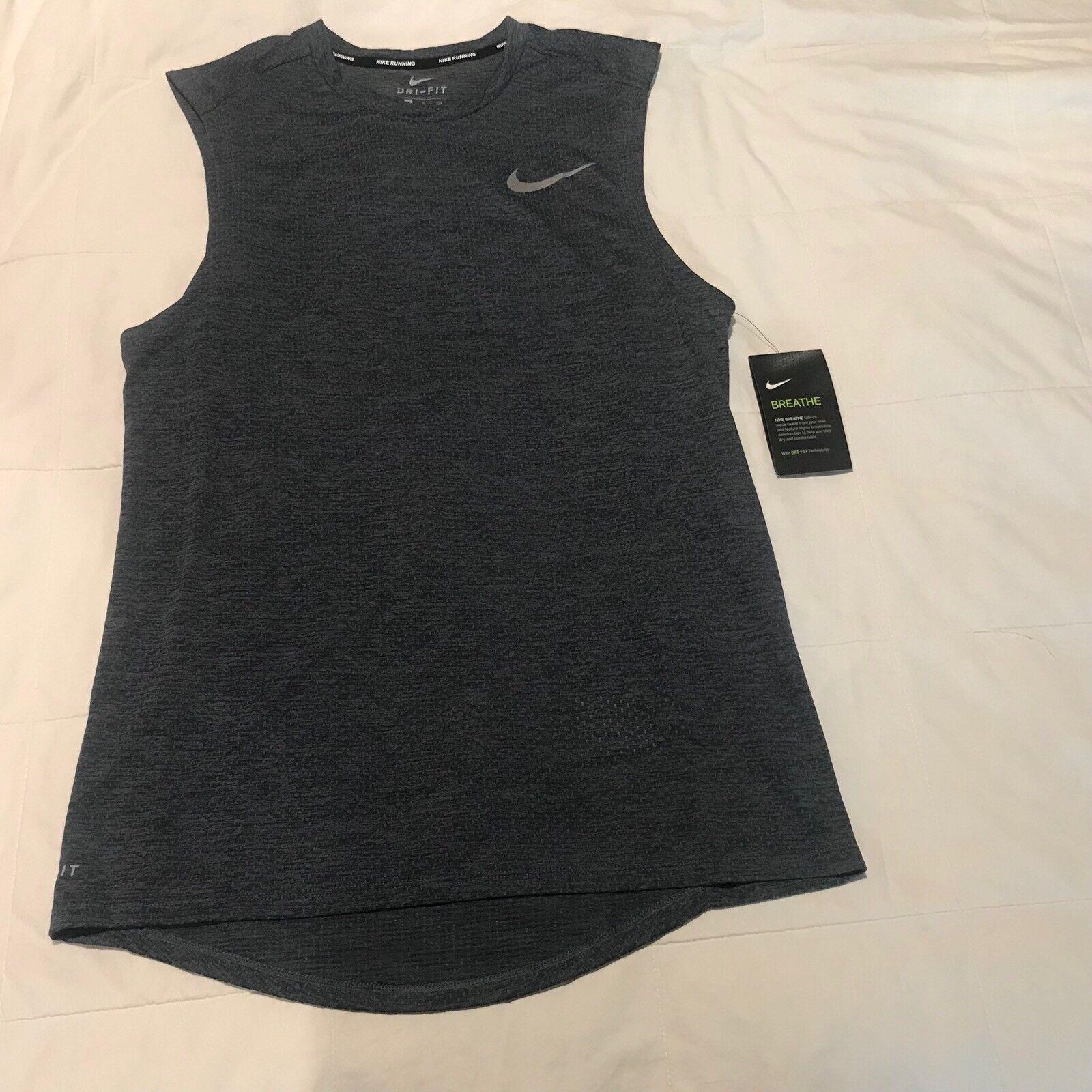 Nike Hombre Respirar L Atletismo Azul Marino Camiseta de Tirantes Tirantes  Tirantes Camisa Grande 1a19ff 3236f22206683