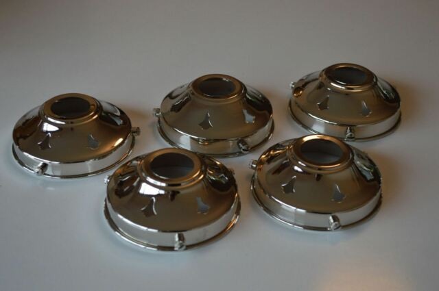CLASSIC ANTIQUE STYLE CHROME GLASS LIGHT SHADE GALLERY 3 1//4 INCH LAMP SHADE NR4