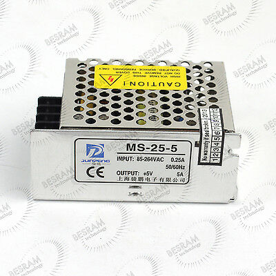Professional Power Supply 110V-220VAC Input and 5VDC 5A High Current