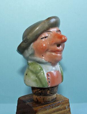 Verseur Moderater Preis Pourer Man Head Ausgießer Humor Alte Porzellan Schnapsnase Tracht #12850