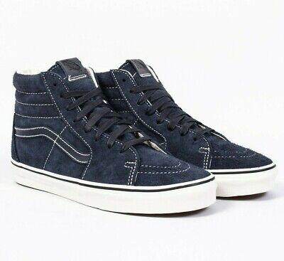 Vans SK8 Hi Hairy Suede Sky Captain Navy Mens Classic Skate Shoes | eBay