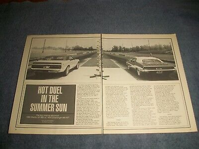 1969 Shelby Gt-500 Vs.1970 Dodge Challenger 440 R T Vintage Info Artikel Gt500