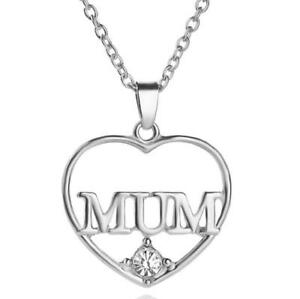 90a7f05bb8303 Details about I Love You Mum Heart Necklace Charm Mother Pendant Chain Gift  Family Mom Jewelry