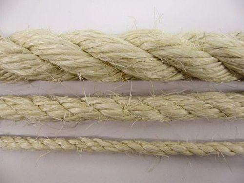 Natural Rope SISAL Multiple Diameter & Length Fibres DIY Fence Ring Border Ropes