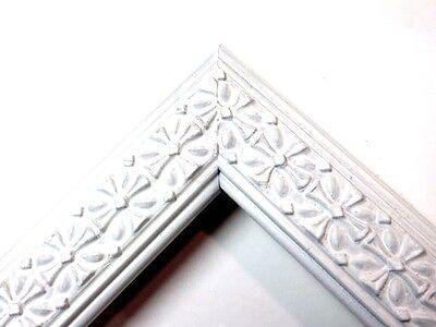 "1.25"" Satin White Cross Wood Picture Frame-Custom Made Standard Sizes"