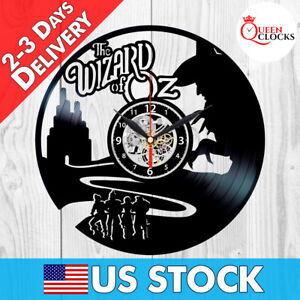 Image is loading The-Wizard-of-Oz-Vinyl-Record-Clock-Wall-