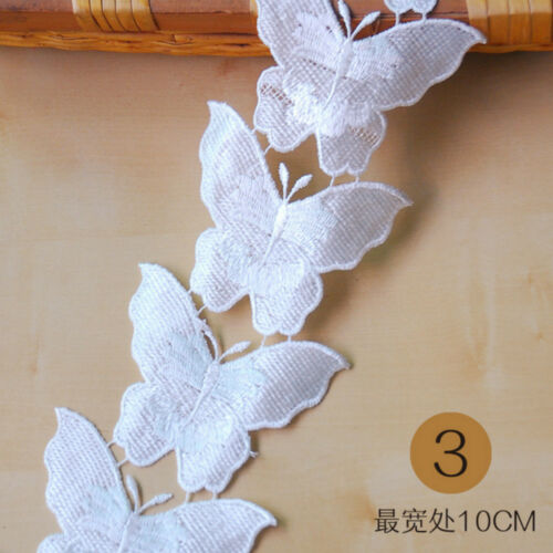 5 Yard butterfly Embroidery lace Wedding dress decoration Sewing Accessories