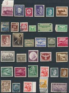 Lot-Stamp-Germany-Estonia-Poland-China-WW2-Hitler-Feldpost-Hindenburg-Feldpost-U