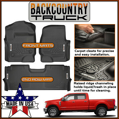 Husky Liners X-act Contour Front /& 2nd Seat Floor Liners Fits 2017-19 Ford F-250//F-350 Crew Cab w// factory storage box