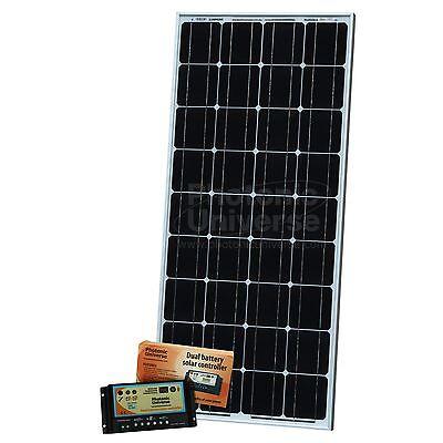 100 W 12 V Solaire Charge Kit Avec Contrôleur 10 A 5 M Câble Pour Camper Caravane Bateau