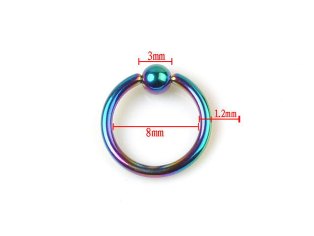 10pcs Bead Ring Ball Hoop Eyebrow Nipple Nose Lip Earrings Body Piercing Jewelry