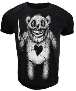 Evil-Teddy-T-shirt-homme-femme-gothic-rock-punk-goth-Alternative-Tee-Cadeau