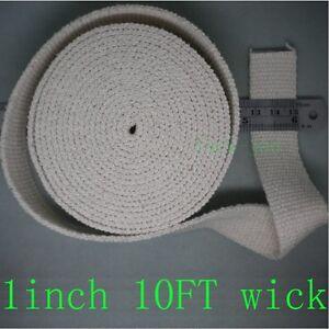 "oil lantern kerosene lamp wick , cotton 1"" by 10 FT=3.3 yard no Colored Stitch"