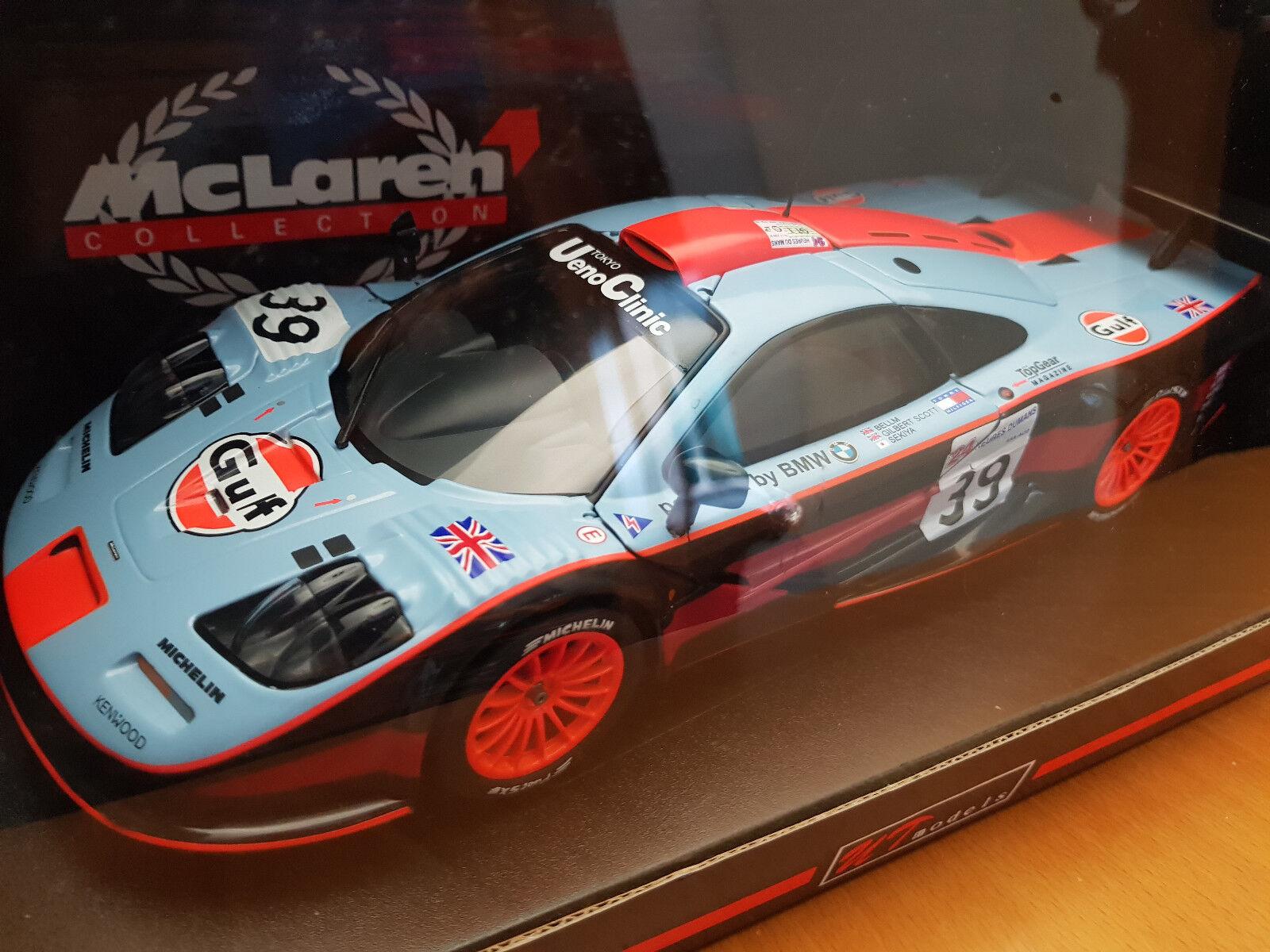 1:18 UT MODELS McLAREN F1 Long Tail #39 LE MANS 1997 GULF