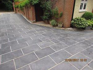 Image Is Loading Slate Paving Patio Garden Drive Slabs 45m2 600x400mm